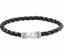 Armband 'nautic traveller' schwarz / silber