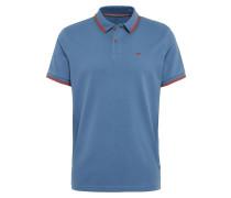 Poloshirt himmelblau / dunkelorange