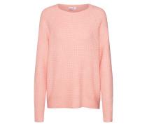 Sweatshirt 'waffle Stitch' rosa
