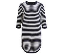 Schlichtes Kleid navy / weiß