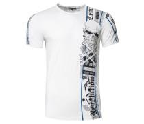 T-Shirt im verwaschenen Look weiß