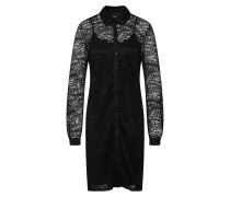 Kleid 'objadelina L/S Shirt Dress' schwarz