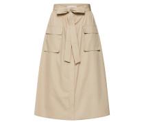 Rock 'vinyala HW Midi Skirt' beige