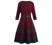 Kleid bordeaux / schwarz