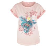 Fade Out-Shirt mit Frontprint rosa
