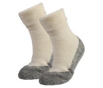 Socken 'Cosyshoe' grau / weiß