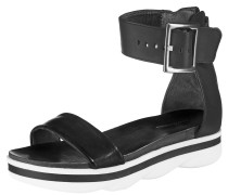 Klassische Sandale schwarz / weiß