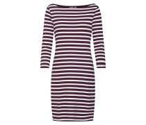 Kleid burgunder / weiß