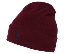 Mütze blau / weinrot