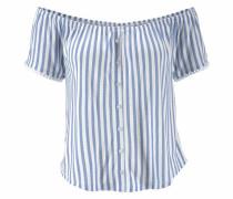 Strandshirt blau / weiß