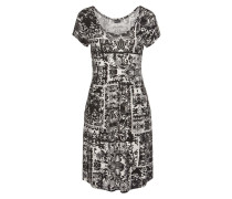 Jerseykleid mischfarben / schwarz
