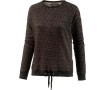 Sweatshirt 'tikka' braun / schwarz