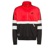 Sweatshirt creme / rot / schwarz