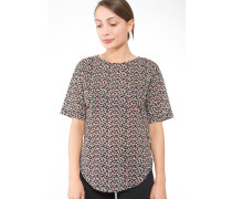 Shirt 'Olivia' hellrot / schwarz / weiß