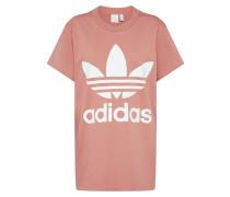 T-Shirt 'big Trefoil' rosé / weiß