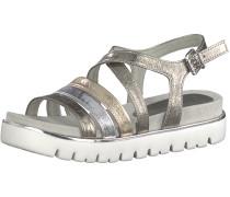 Sandale gold / grau / silber / weiß