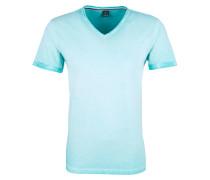 V-Neck-Shirt türkis