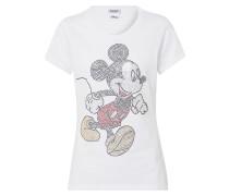 Shirts & Tops 'Glitzer Mickey' weiß