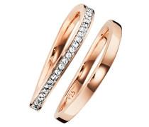 Ring 'c1720R/90/93/50' rosegold / weiß