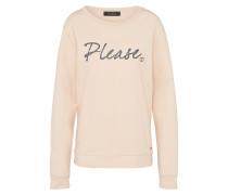 Sweatshirt mit Logo-Print rosa