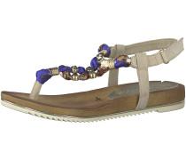 Sandale beige / gold / grau