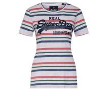 Shirt blau / rosa / offwhite