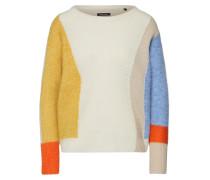 Pullover beige / hellblau / orange