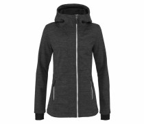 Performance Strickfleecejacke anthrazit
