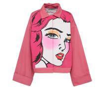 Jacke 'Pop-Art' pink / weiß