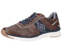Sneaker blue denim / dunkelbraun