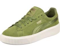 Sneaker Suede Platform Mono Satin mit Dämpfung