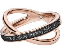 Ring rosegold / schwarz