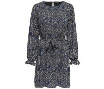 Kleid nachtblau / hellblau / weiß