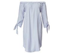 Kleid hellblau / weiß