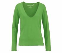 V-Ausschnitt-Pullover grasgrün
