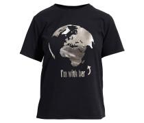 T-Shirt 'Lovely Earth' schwarz
