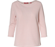 Pullover rosa / weiß