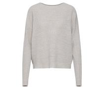 Pullover 'vmtida LS' hellgrau / weiß