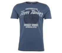 T-Shirt 'basic slub Nos' blau