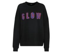 Sweater 'glow' lila / schwarz