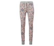 Pyjama Hose 'Desert Garden' grau / altrosa