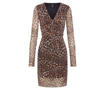 Kleid 'GO Animal' braun / schwarz