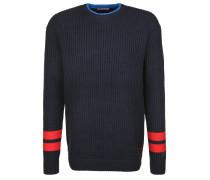 Pullover blau / nachtblau / hellrot