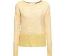 Pullover gelb / weiß