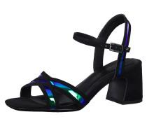 Sandale schwarz / blau