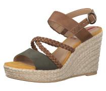 Sandalette braun / khaki