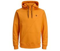 Detaillierter Hoodie orange