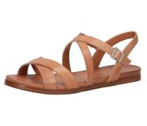Klassische Sandalen hellbraun