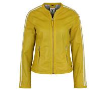 Lederjacke 'Serena' gelb / weiß