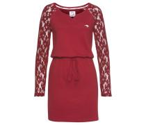 Kleid bordeaux / weiß